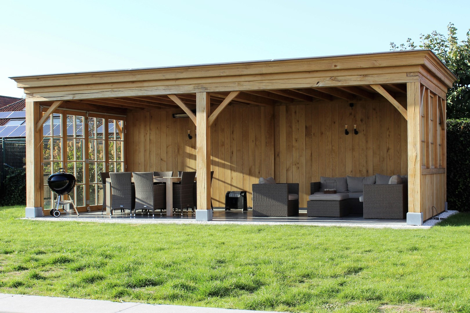 GB Construct, Poolhouse, Bijgebouw, Eik, Steenkerke, EPDM dakbedekking
