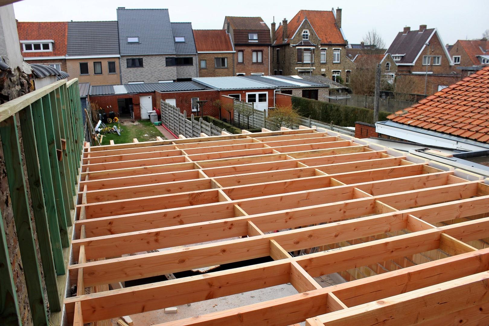 GB Construct, Daktimmerwerken, Dakwerken, Houten roostering, Isolatie, EPDM dakbedekking