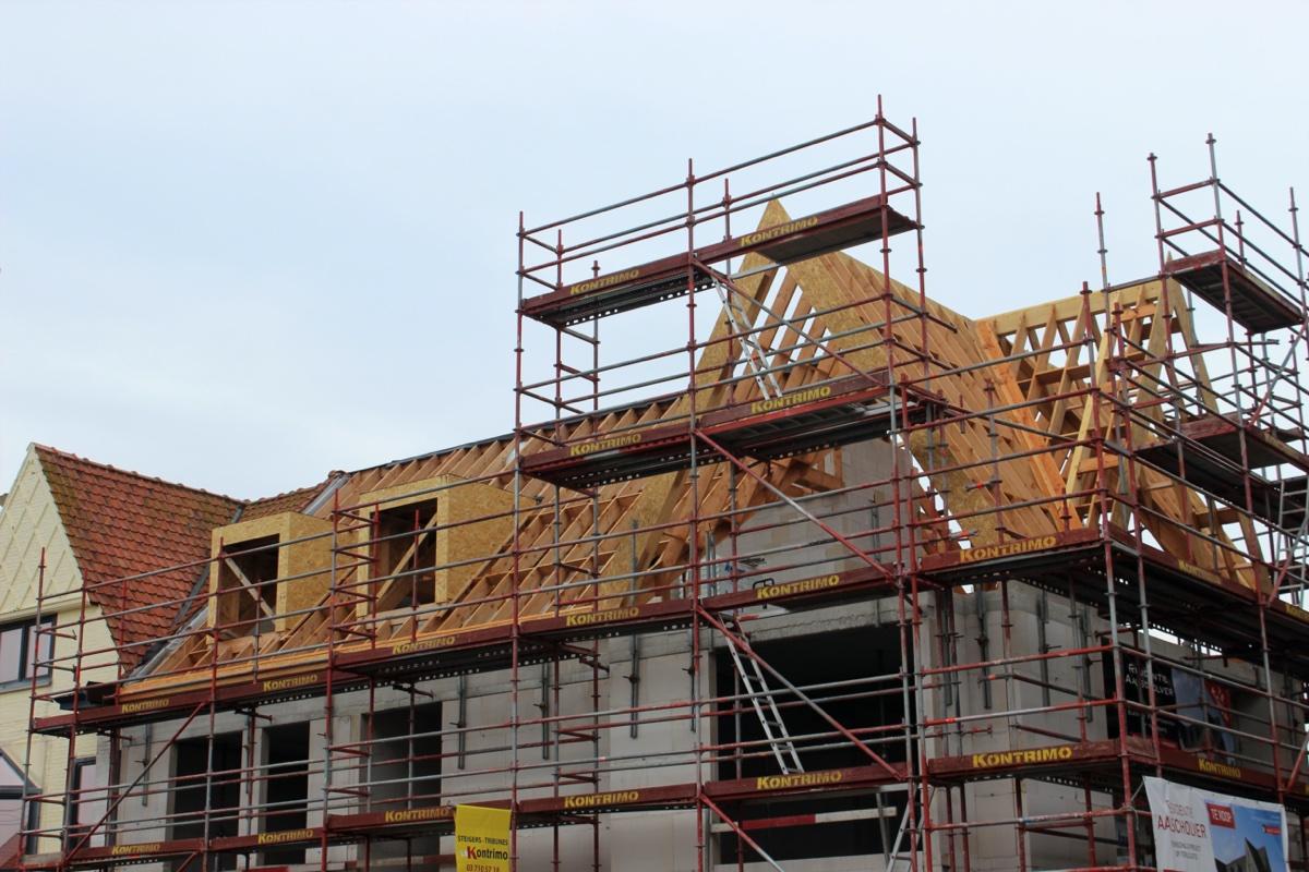 GB Construct, Residentie Aalscholver, Nieuwbouw, Oregon, Duinbergen, Kapconstructie