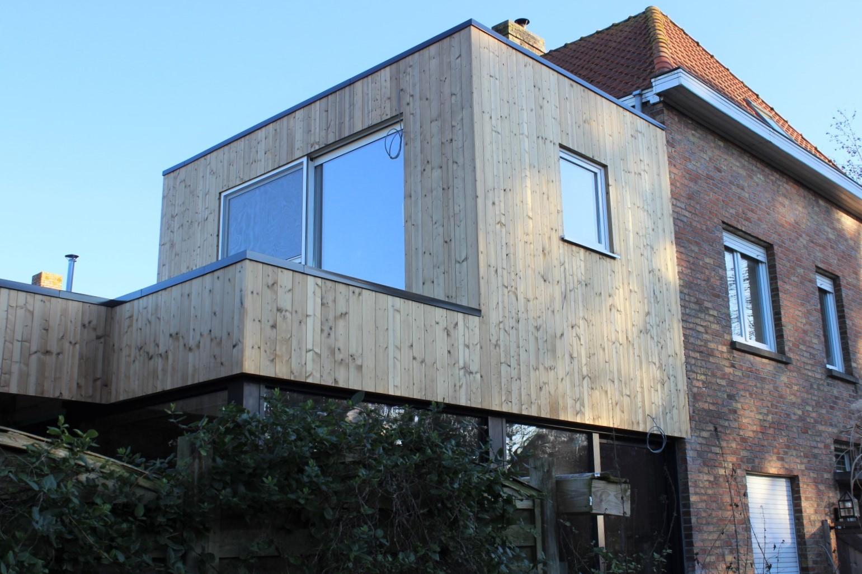 GB Construct, Renovatie, Houtskeletbouw, Gevelbekleding, Thermowood, EPDM, Schrijnwerk, Sint-Andries